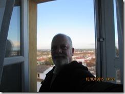 Na janela da pensão