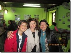 Aldinida, Natália e Ricardo